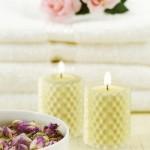 テーブル(花と共に)
